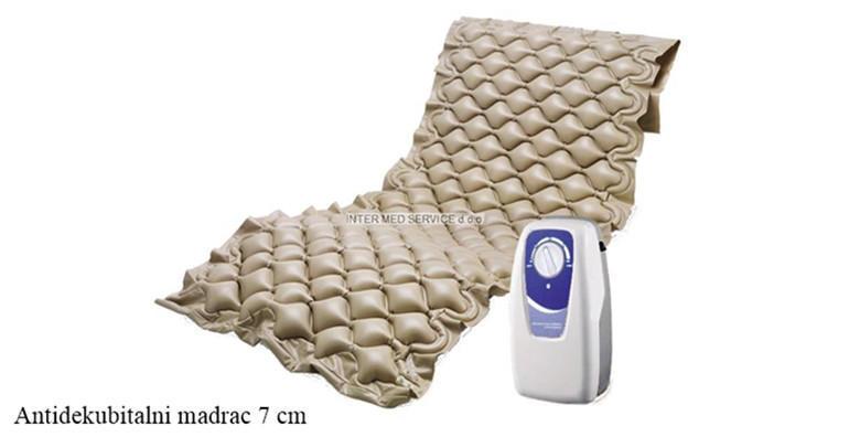 Antidekubitalni madrac - neophodan za brigu nepokretnih osoba jer sprječava stvaranje rana od ležanja, uključena dostava za cijelu RH od 540 kn!
