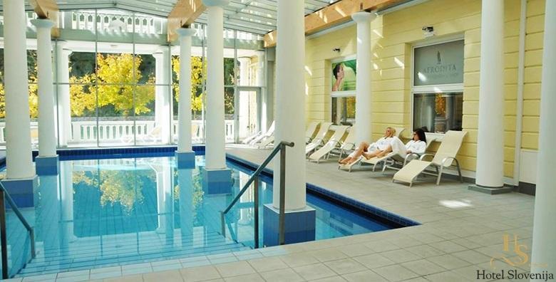Ponuda dana: ROGAŠKA SLATINA Hotel Slovenija 4* - 2 noćenja s polupansionom ili punim pansionom za dvoje uz korištenje bazena, sauna i fitnessa za 1.176 kn! (Hotel Slovenija****)