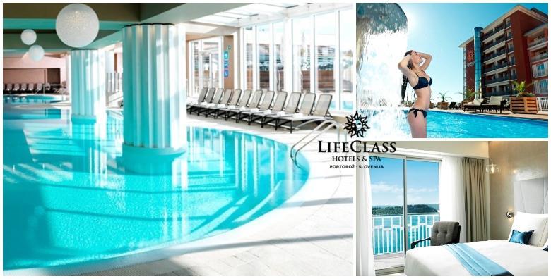 Wellness u Portorožu - luksuz u LifeClass hotelima 4* uz ulaz u terme i saune! 2 noćenja s doručkom ili polupansionom za dvoje od 1.200 kn!