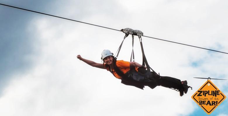 Adrenalinska tura Likom - 1 noćenje s doručkom, kajakarenje, Zip line spust za 899 kn!