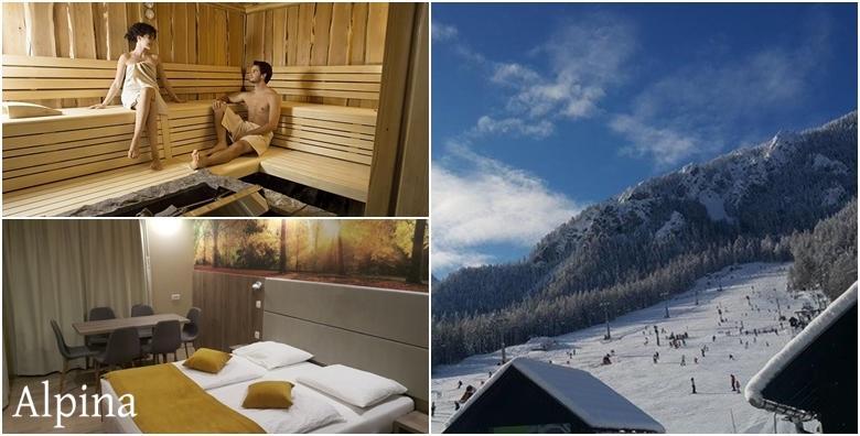 Ponuda dana: Skijanje i wellness u Kranjskoj Gori - 1 noćenje s doručkom za 2 osobe u Hotelu Alpina 3* uz korištenje sauna, jacuzzija i fitnessa te uključen ski pass od 885 kn! (Hotel Alpina 3*)