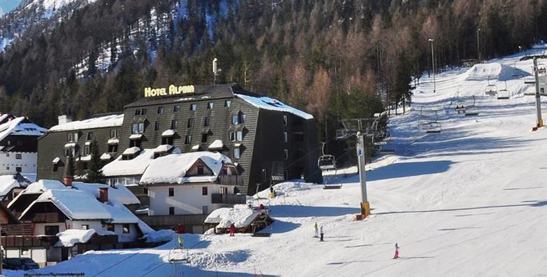 Ponuda dana: Kranjska gora, skijanje i wellness - 1 noćenje s doručkom za 2 osobe u Hotelu Alpina 3* uz korištenje sauna, jacuzzija i fitnessa te uključene ski karte od 632 kn! (Hotel Alpina 3*)