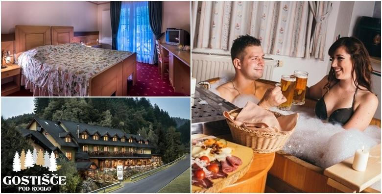 POPUST: 42% - Slovenija - 2 noćenja s polupansionom za 2 osobe uz Hotelu Pod Roglo 3* uz pivsku kupku i neograničenu konzumaciju domaćeg piva te korištenje sauna za 1.162 kn! (Hotel pod Roglo)