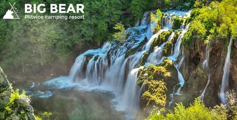 [PLITVICE] 1 noćenje u luksuznoj kućici za 4 ili 6 osoba u novom Big Bear Camping Resortu**** tik do predivnih jezera - LAST MINUTE odmor već od 533 kn!