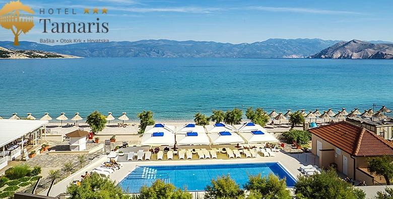 Ponuda dana: BAŠKA, KRK Savršen postsezonski odmor - 2 noćenja s doručkom ili polupansionom za dvoje u Hotelu Tamaris 3* uz korištenje bazena od 1.045 kn! (Hotel Tamaris 3*)