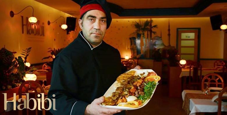 POPUST: 37% - LIBANONSKE DELICIJE Prava gurmanska gozba u orijentalnom restoranu Biblos Habibi - meso s roštilja za 2 osobe uz živu glazbu i trbušne plesačice za 119 kn! (Libanonski restoran Biblos Habibi)
