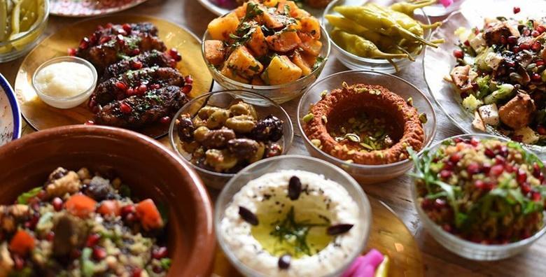 Ponuda dana: Libanonski meni za dvoje u 4 slijeda - egzotične salate i tradicionalne mezze uz marinirane kriške janjetine i libanonske baklave za 249 kn! (Libanonski restoran Biblos Habibi)