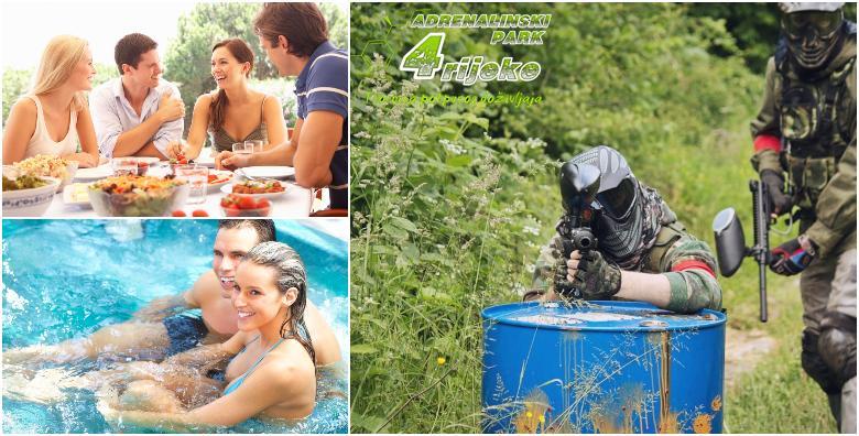 Adrenalinski doživljaj na rijeci Korani - 5h igre, 500 kuglica, ručak, bazen i saune za 439 kn!
