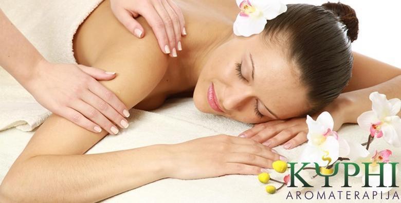 POPUST: 57% - Aromaterapijska masaža cijelog tijela u trajanju 90 minuta koju provodi certificirana aromaterapeutkinja - ublažite stres, otklonite bolove i probudite duh za 149 kn! (Kyphi aromaterapija)