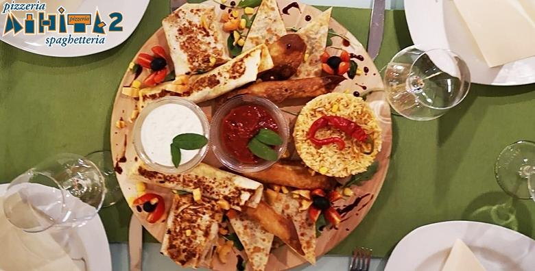 POPUST: 38% - MEKSIČKA PLATA- slasne chimichange, buritosi, taquitosi i quesadille uz meksičku rižu, blage i ljute umake - prava gurmanska gozba za dvoje za samo 80 kn! (Pizzeria Mihita)