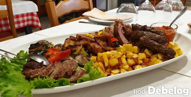Bogata roštilj plata za 4 osobe u restoranu Kod Debelog već od 129 kn!