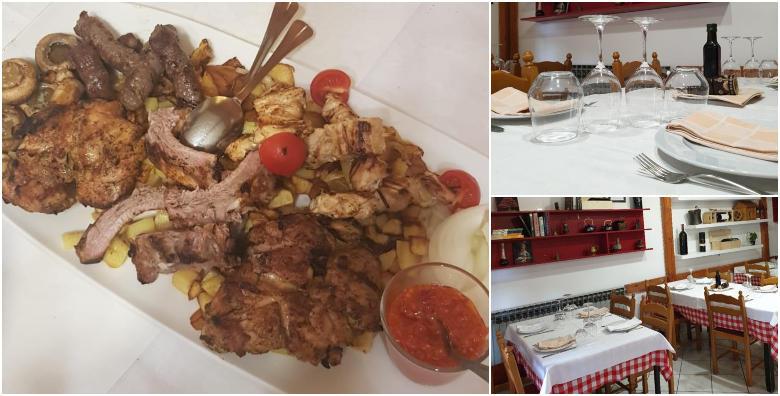 Roštilj plata za 2 ili 4 osobe u restoranu Kod Debelog - ćevapi, rebarca, marinirani batak i zabatak, pileći ražnjići u senfu uz krumpir i šampinjone na žaru već od 69 kn!