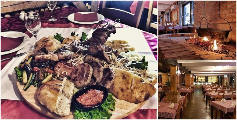 Bogati meni za 2 osobe - garantirano dobra zabava uz živu muziku u restoranu Makedonska Baraca za 119 kn!