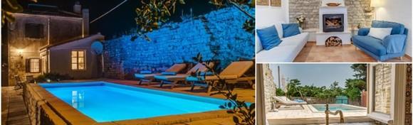LOŠINJ - 3 ili 5 noćenja za 2 do 7 osoba u prekrasnoj Villi Antiqua 3* u Osoru uz korištenje grijanog bazena te kamina od 2.625 kn!