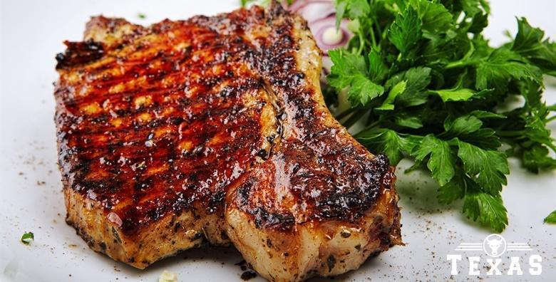 Ramstek na žaru - 250 grama čistog mesnog užitka za jednu osobu u restoranu Texas steak&grill house ili The Movie pub za 39 kn!