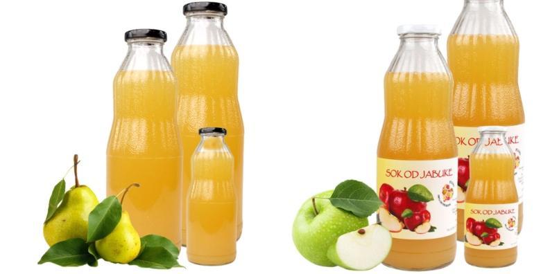 48 prirodnih sokova od jabuke, kruške, mandarine i  aronija-jabuke bez šećera i aditiva za 249 kn!