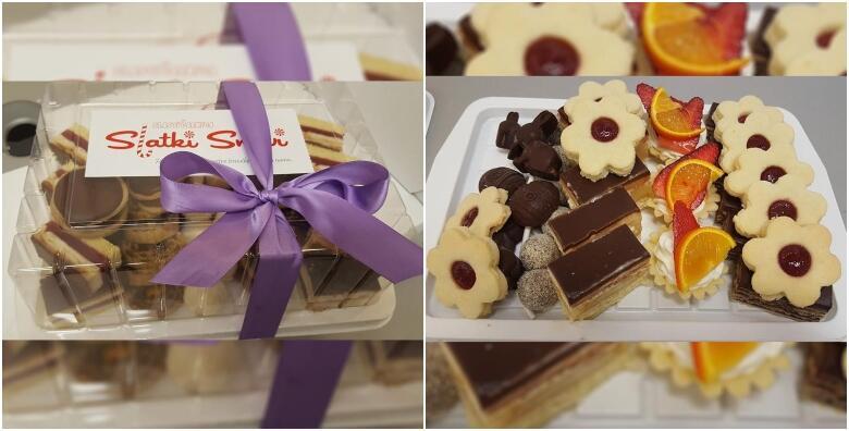 POPUST: 35% - Miješani kolači - počastite se raznolikim kremastim i tradicionalnim kolačima uz 1 kg preukusnih slastica iz Slastičarnice Slatki snovi za samo 85 kn! (Slastičarnica Slatki snovi)