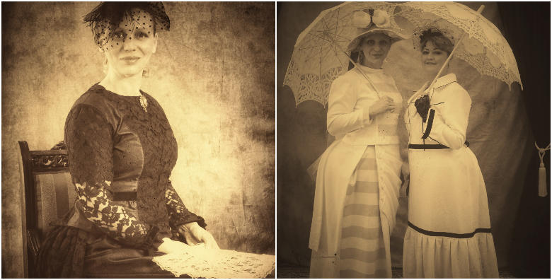 Fotografija A4 u starinskom stilu za 2 ili do 6 osoba! Obucite krinolinu ili odijelo, pretvorite se u damu ili gospodina iz davne prošlosti već od 149 kn!