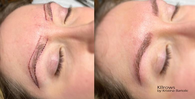 POPUST: 45% - Microblading obrva - savršeni oblik obrva za vaše lice, tehnika kojom  se imitiraju dlačice i njihov prirodan rast u KBrows studiju za 935 kn! (KBrows)