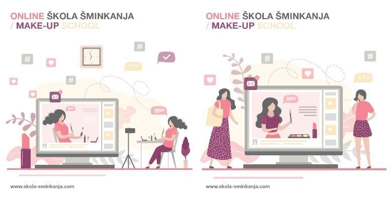POPUST: 50% - INDIVIDUALNI ONLINE tečaj šminkanja za osobne potrebe u trajanju od 2 sata uz stručno vodstvo profesionalnog Makeup Artista za 249 kn! (Sellier Art j.d.o.o.)