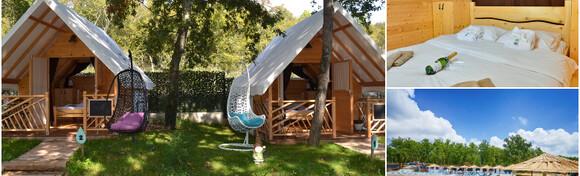 GLAMPING U ISTRI - 2 noćenja u simpatičnim glamping sobama za dvije osobe + gratis smještaj za 1 dijete do 3 godine u Polidor Camping Parku 4* po super cijeni za 495 kn!