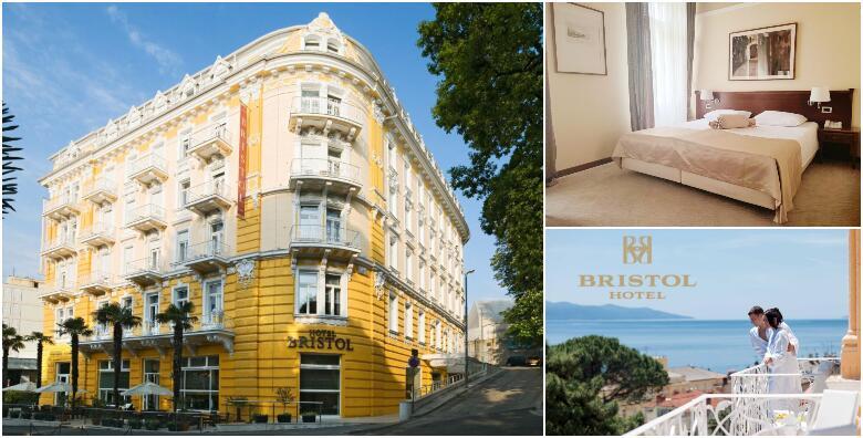 POSTSEZONA U SRCU OPATIJE - odmor uz 1 ili više noćenja s polupansionom za 2 osobe + gratis paket za 1 dijete do 6,99 godina u Hotelu Bristol od 849 kn!