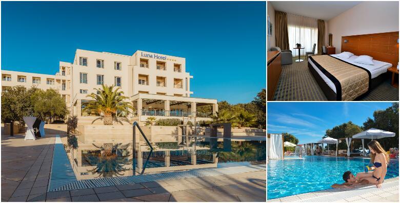 PAG - luksuzni odmor uz 1 ili 2 noćenja s polupansionom za dvoje + gratis ponuda za 1 dijete do 6,99 god. uz uključeno korištenje bazena i sauna u Hotelu La Luna 4* od 677 kn!