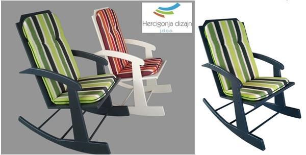Stolica za ljuljanje za odmor i opuštanje uz dvogodišnju gar
