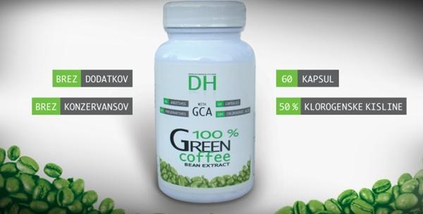 Zelena kava - 60 kapsula s uključenom dostavom